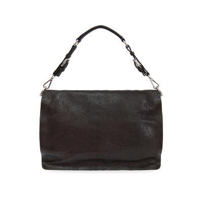 pebbled tote bag black